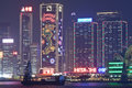 2011 Hong Kong night view at Christmas Royalty Free Stock Images