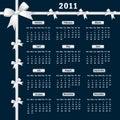 2011 Kalender met bogen Stock Fotografie