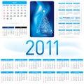 2011 Kalender-Schablone Stockfotografie