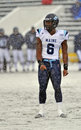 2011 NCAA Football -  play calling in the snow Stock Image