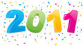 2011 New Year Banner Royalty Free Stock Photos