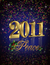 2011 New Year peace Royalty Free Stock Images