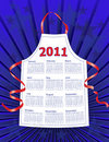 2011 Stars & Stripes Kitchen Calendar Stock Image