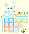 2012个日历设计 免版税库存照片