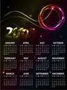2012个日历设计 免版税库存图片