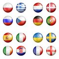 2012 all euro flags gruppsoccerballsuefa Royaltyfri Bild