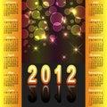 2012 amerykanina kalendarz Obrazy Royalty Free