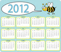 2012 Bee calender Royalty Free Stock Images