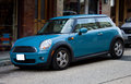 2012 Blue Mini Cooper Stock Image