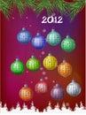2012 bollar calendar garneringen Arkivfoton
