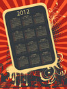 2012 calendar Stock Images