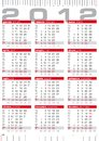 2012 calendar with rulers Stock Image