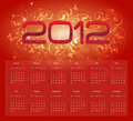 2012 Calender Stock Photos