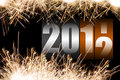 2012 celebration time Royalty Free Stock Photo