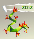 2012 Chinese origami dragon Royalty Free Stock Photo
