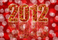 2012 Chinese Year of the Dragon Red Background Stock Image