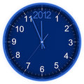 2012 on clock Royalty Free Stock Images