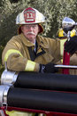 2012 Fiesta Bowl Parade Fireman Fire Cheif Royalty Free Stock Photo