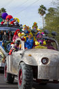 2012 Fiesta Bowl Parade Oversize Car Clowns Royalty Free Stock Image