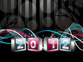 2012 Happy New Year greeting card or background Royalty Free Stock Images