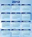2012 kalendarz Zdjęcie Royalty Free