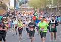 2012 London marathon runners en masse Stock Photos