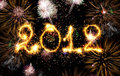 2012 made of sparks Stock Images