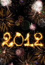 2012 made of sparks Royalty Free Stock Photos