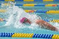 2012 NCAA swimming - IM Royalty Free Stock Images