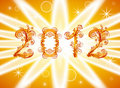 2012 new year background with floral or Stock Photography