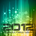 2012 New Year celebration background Royalty Free Stock Photo