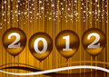 2012 new year illustration Stock Photos