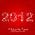 2012 New Year shiny invitation postcard Royalty Free Stock Image