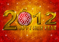 2012 New Year Snowflakes Ornament Illustration Stock Photos