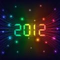 2012 Nieuwe jaarachtergrond Stock Foto's