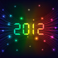 2012 Nowy rok tło Zdjęcia Stock
