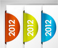 2012 round Labels / Stickers Royalty Free Stock Image