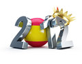 2012 soccer ball spain gold crown Stock Photo