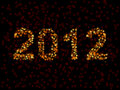 2012 spelled in blurry lights Royalty Free Stock Image