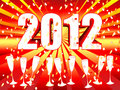2012 sunburst champagne celebration Royalty Free Stock Images