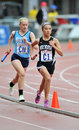 2012 Track - Asian Female HS relay runner Royalty Free Stock Images
