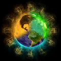 2012 - Transformation of consciousness on Earth Stock Images