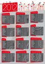 2012 w angielskim rocznika kalendarz Obrazy Stock
