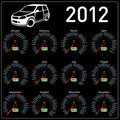 2012 year calendar speedometer car in vector. Royalty Free Stock Photography