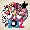 2012 Year of the Dragon Stock Image