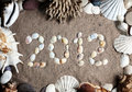 2012 year from seashells Stock Image