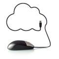 2013-01-09_cloud_computing_maus_5505 免版税库存图片