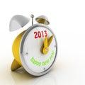 2013 anni sulla sveglia Fotografie Stock