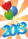 2013 balloons Royalty Free Stock Photos