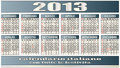 2013 calendar Royalty Free Stock Photo
